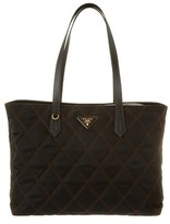 Prada Quilted Nylon & Saffiano Leather Double Handle Tote.