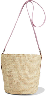 Sensi Leather-trimmed Toquilla Straw Bucket Bag