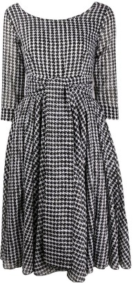 Samantha Sung Houndstooth-Print Dress