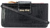 Miu Miu crocodile effect mini bag