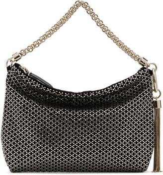 Jimmy Choo Black Crystal Callie Duffle Bag
