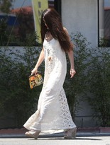 Jens Pirate Booty Infinity Low Back Maxi Dress In Shell As Seen On Selena Gomez