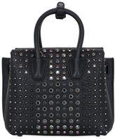MCM Milla Crystal Leather Shoulder Bag