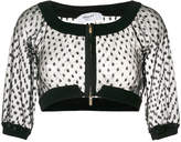 Blugirl cropped mesh top