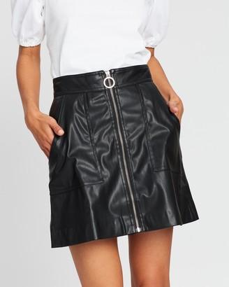 Lover Paint It Black Mini Skirt