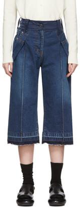 Sacai Blue Cropped Wrap Jeans