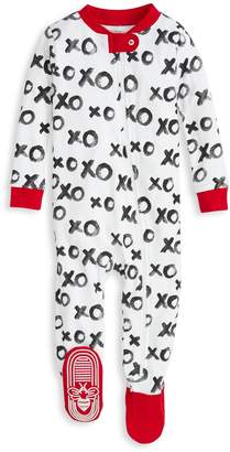 Burt's Bees Hugs & Kisses XOXO Organic Baby Zip Up Footed Valentine's Day Pajamas
