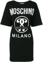 Moschino logo t-shirt dress - women - Cotton/Other fibres - 38