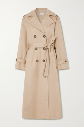 Reformation Holland Cotton-blend Twill Trench Coat - Camel