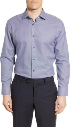 Nordstrom Trim Fit Non-Iron Geometric Dress Shirt