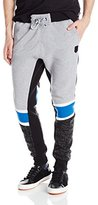 Southpole Men's Jogger Pants Fleece with Geometric Prints On Lower Leg and Sides