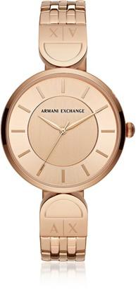 Armani Exchange Brooke Rose Gold Tone Bracelet Watch