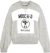 Moschino Printed Jersey Sweatshirt - Gray
