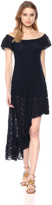 Only Hearts Women's Stretch Lace Asymetric Hem Dress Lined