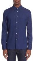 Paul Smith Men's Extra Trim Fit Pin Dot Sport Shirt