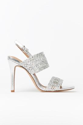 Wallis Silver Cage Detail Strap Heel