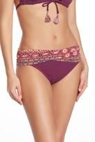 Bleu By Rod Beattle Beach Please Patterned Waist Bikini Bottoms