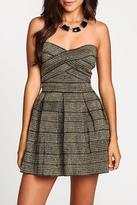 Alythea Metallic Bandage Dress