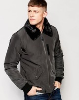 NATIVE YOUTH Fleece Collar Golf Jacket