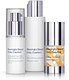 Meaningful Beauty 3 Piece Kit, Daily Routine Starter System for All Skin Types, Includes Skin Softening Cleanser 2 Fluid Ounces, Antioxidant Day Crème 0.5 Fluid Ounce, and Crème de Serum 0.5 Fluid Ounce