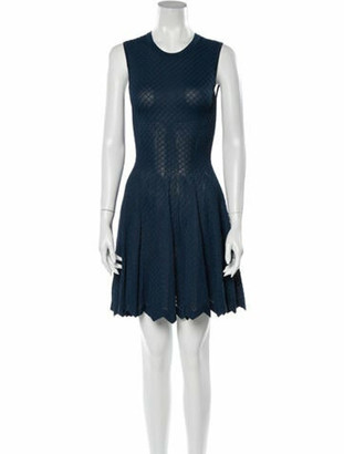 Alaia Sleeveless Mini Dress blue