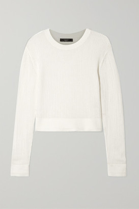 Twenty Montréal TWENTY Montreal - Carlyle Cropped Open-knit Cotton Sweater - White