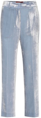Sies Marjan Willa high-rise velvet pants