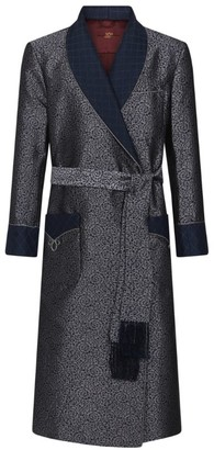Daniel Hanson Jacquard Silk Robe