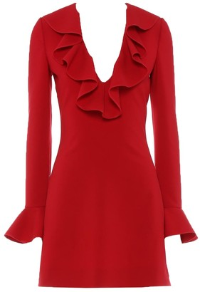 Valentino Crepe Fitted Mini Dress