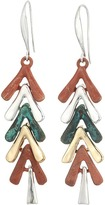 Robert Lee Morris Patina Two-Tone Shaky Linear Earrings
