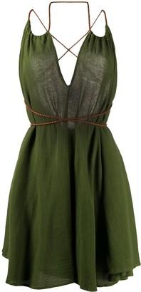 CARAVANA Mahahual v-neck dress