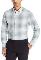 Perry Ellis Men's Large Ombre Plaid Pattern Shirt