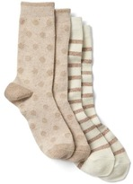 Gap Cozy metallic print crew socks (2-pack)