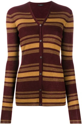 Joseph Striped Fitted Cardigan
