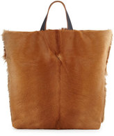 Marni Calf Hair Fur Tote Bag, Light Camel