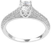 Journee Collection 3/4 CT. T.W. Round-cut Cubic Zirconia Delicate Engagement Basket Set Ring in Sterling Silver - Silver