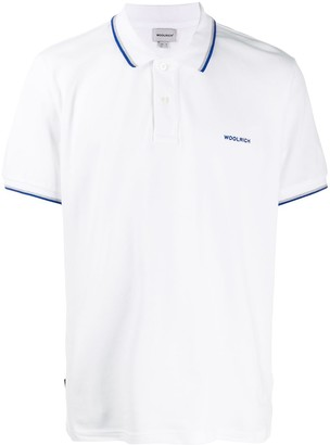 Woolrich Embroidered Logo Stripe Polo Shirt