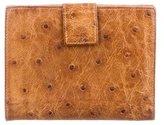 Prada Struzzo Compact Wallet