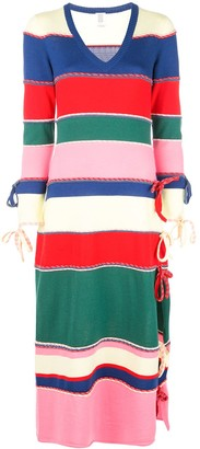 Rosie Assoulin Striped Knitted Dress