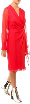 Max Mara Long-Sleeved Wrap Dress