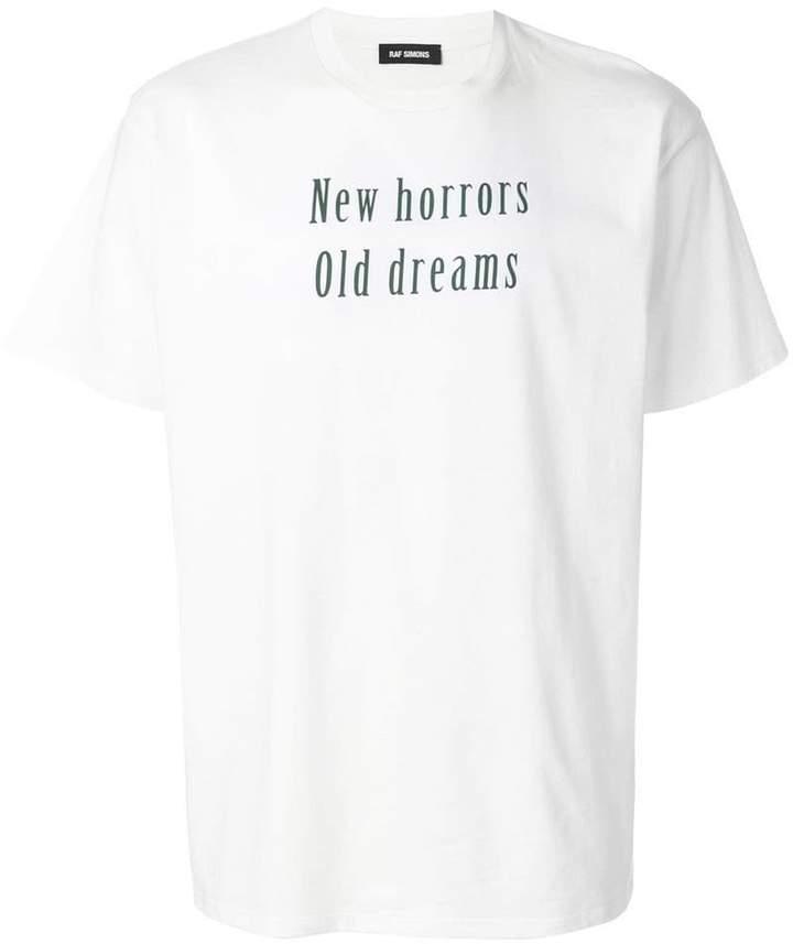 Raf Simons motto print T-shirt