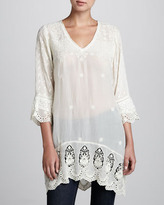 Johnny Was Collection Georgette V-Neck Long Tunic