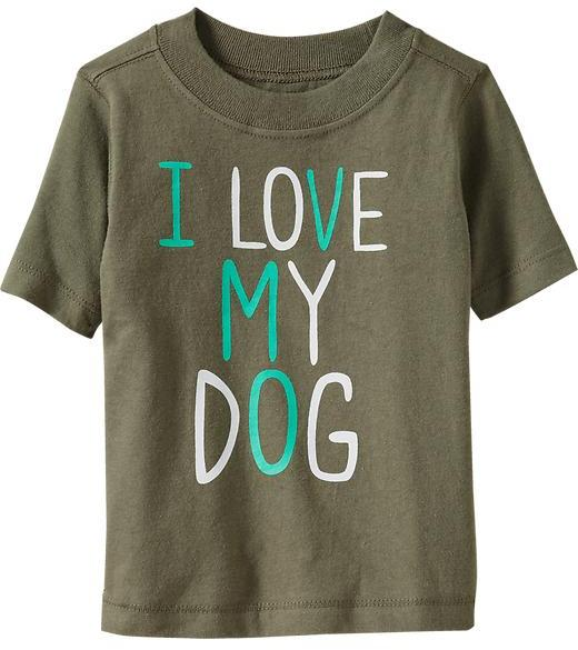 "Old Navy ""I ♥ My Dog Tees for Baby"