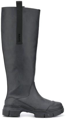 Ganni Rubber Calf-Length Boots