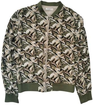 Equipment Green Silk Jacket for Women
