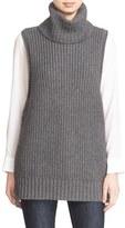 Autumn Cashmere Lace Up Sleeveless Turtleneck Sweater