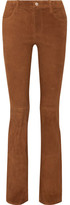 J Brand Brya Suede Bootcut Pants - Brown