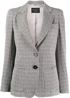 Emporio Armani classic micro-check blazer