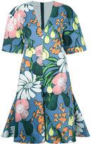 Marni Madder print dress - women - Cotton/Linen/Flax - 42
