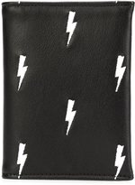 Neil Barrett lightning bolt wallet - men - Leather - One Size
